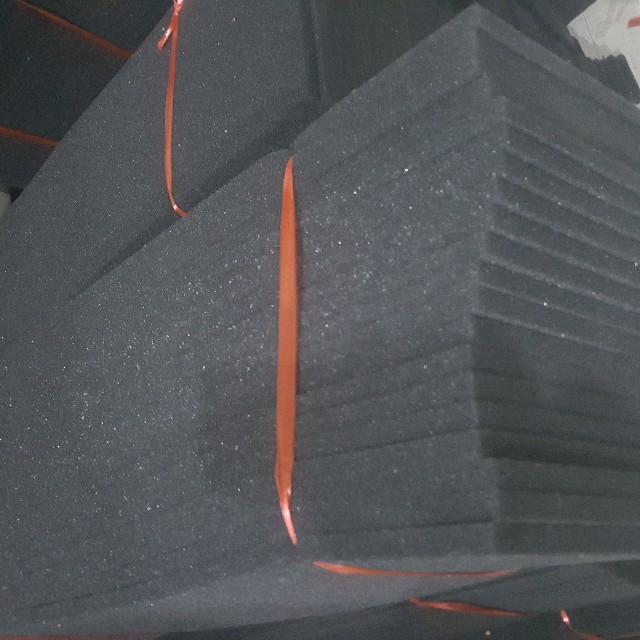 黑色生化棉 开孔棉 培菌 过滤棉1米×30厘米×1.5厘米